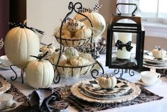 Prostřený stůl na Halloween