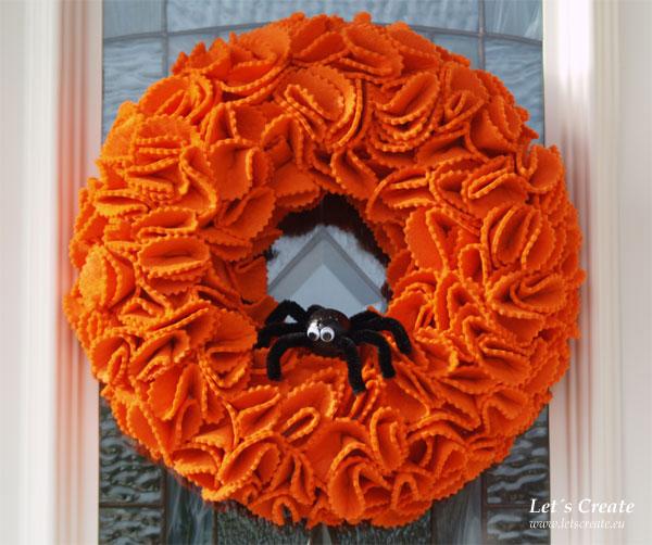 Halloween věnec na dveře