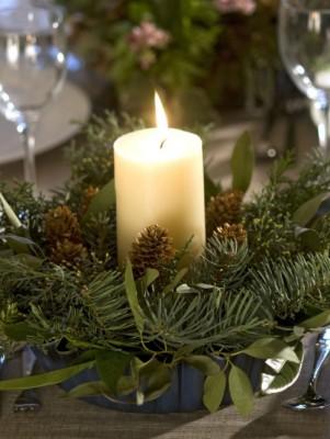 Vánoční dekorace se svíčkou - zdroj: HGTV