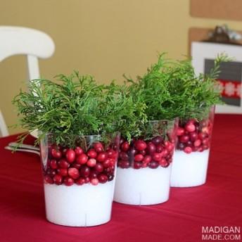 Vánoční dekorace na váš stůl - zdroj: Madiganmade