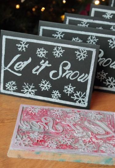 Sněhové vánoční přání - zdroj: Cookquiltmakeandbake