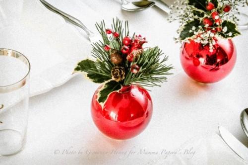 Vánoční dekorace na stůl - zdroj: Mammapapera