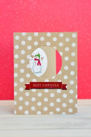 Papírové vánoční přání - zdroj: Mayholicraft