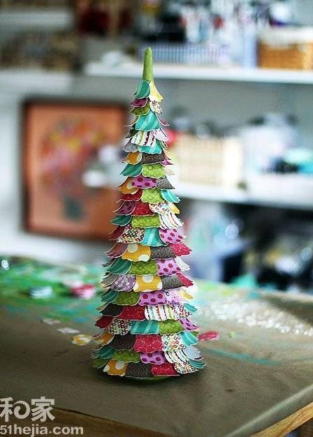 Vánoční stromeček z papíru