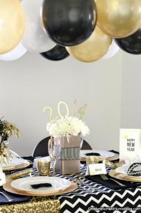Silvestrovská oslava - zdroj: Celebrationsathomeblog
