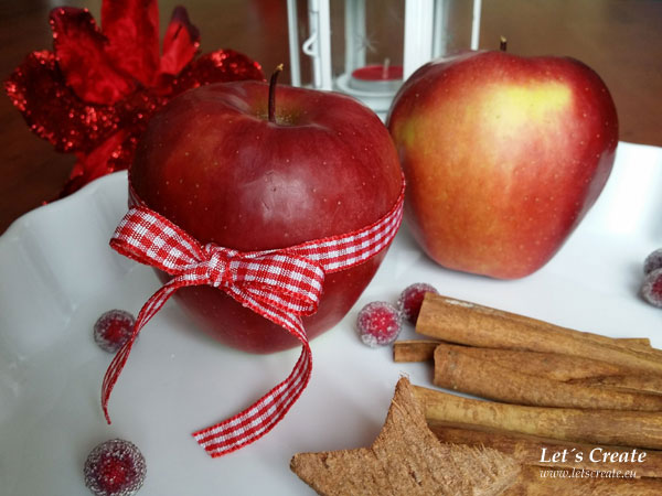 Vánoční jablíčková dekorace