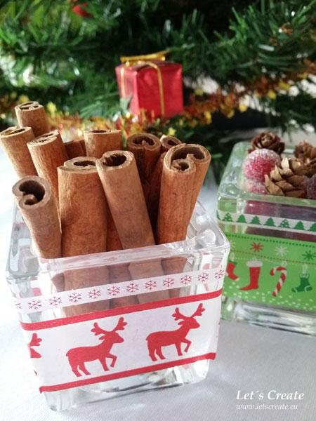 Vánoční dekorace se skořicí