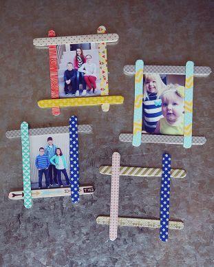 Originální dětské rámečky na fotografie - zdroj: Pinterest