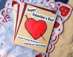 Originální papírová Valentýnka - zdroj: TeaSpoonsf