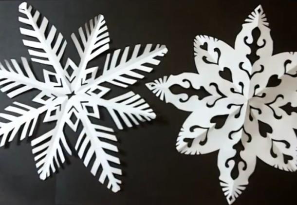 Papírové sněhové vločky