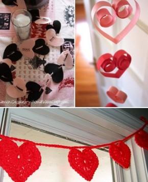 Roztomilé dekorace na Valentýna – snadno arychle