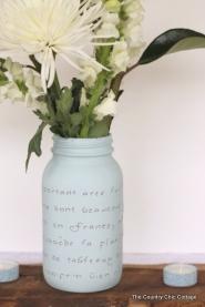Váza se vzkazem - zdroj: TheCountryChicCottage