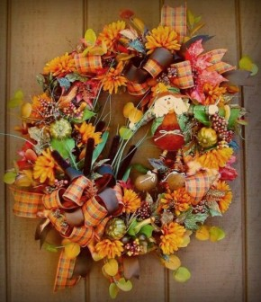Podzimní věnce na dveře: 10inspirací