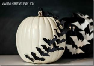 Dýně s netopýry - Zdroj: ItallStartedWithPaint