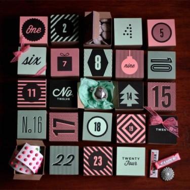Adventní krabičkový kalendář - Zdroj: Ohhappyday.com