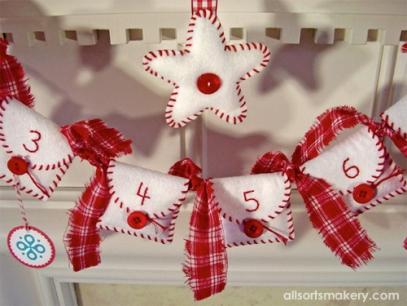 Látkový adventní kalendář - Zdroj: allsorts.typepad.com